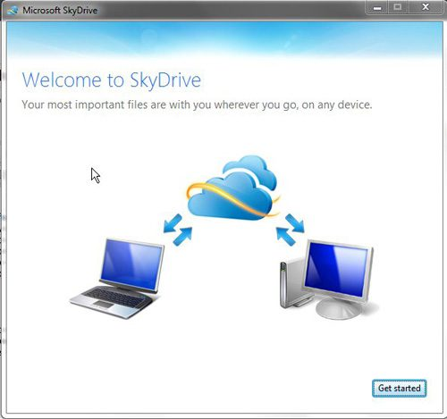 complete the installation of the skydrive folder in windows 7
