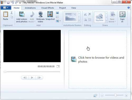 add video clips to movie maker