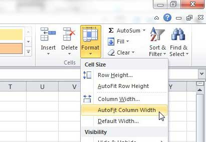 how do i make columns automatically expand in excel 2010