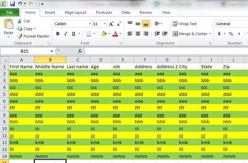 how to format alternating row colors in excel 2010