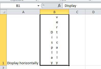 display excel text in multiple vertical columns