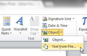 how to merge multiple word files in word 2010