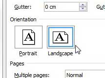 set landscape as default orientation in word 2010