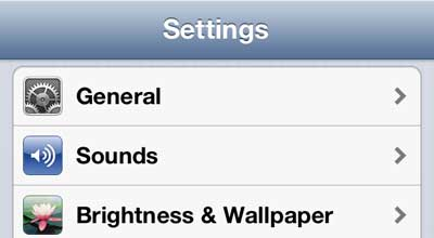 open iphone 5 sounds menu