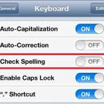 how to turn off spell check on the iphone 5