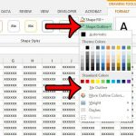 get ris fo the text box border in excel 2013