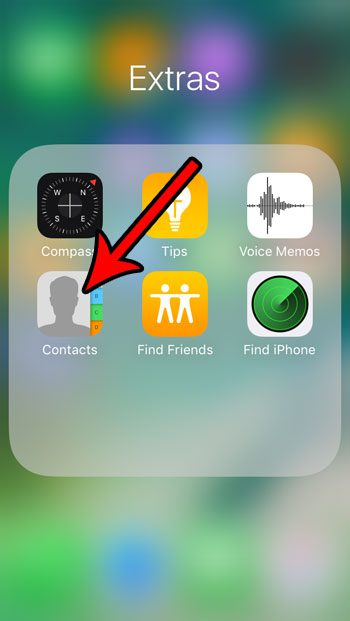 open the iphone se contacts app